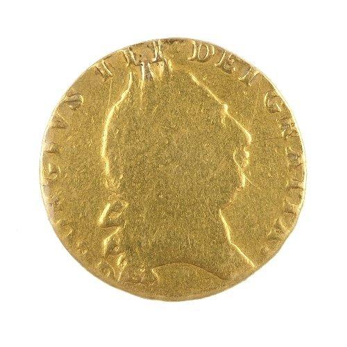 16:  George III, Guinea 1794. Fair, ex mount.