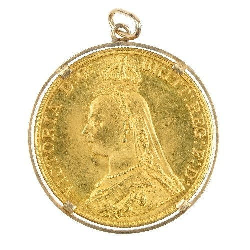 20: Victoria, gold Five-Pounds 1887.