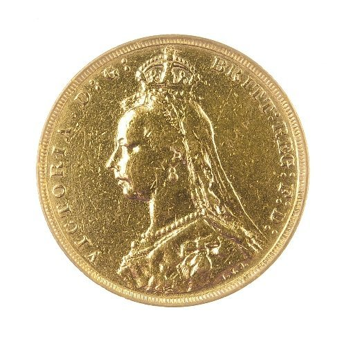 21: Victorian Sovereign 1891, jubilee head.