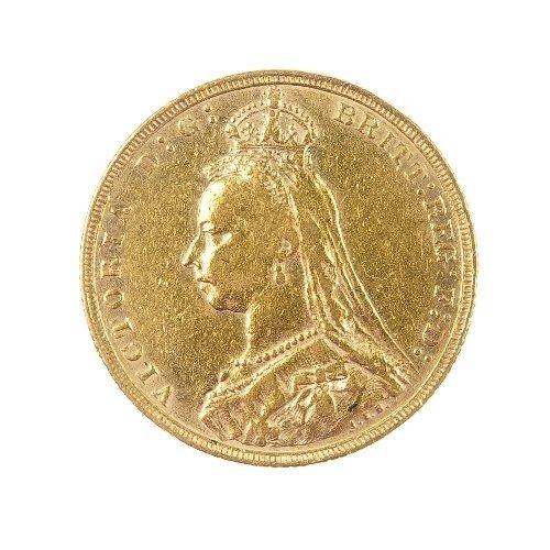 23: Victorian Sovereign 1892, jubilee head.