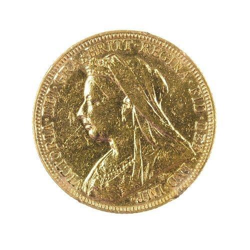 24: Victorian Sovereign 1896, veiled head.
