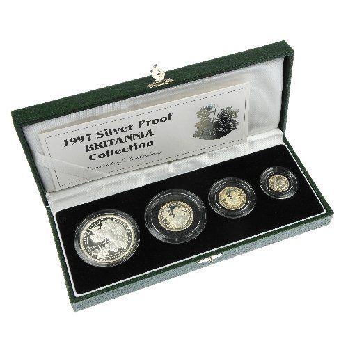 172: Elizabeth II, Silver Proof Britannia Collection, e
