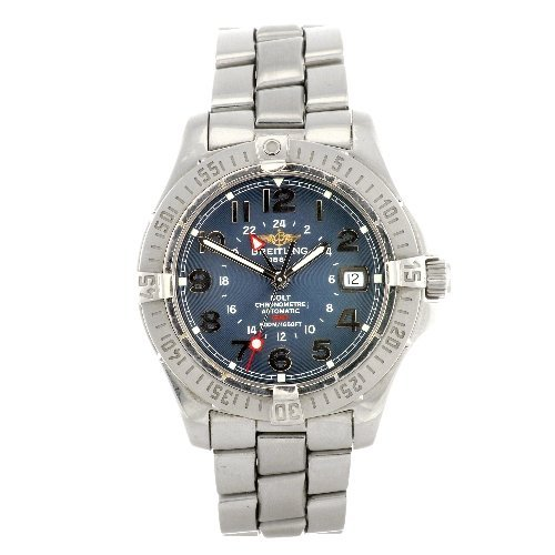 5: (044153) A stainless steel automatic gentleman's Bre