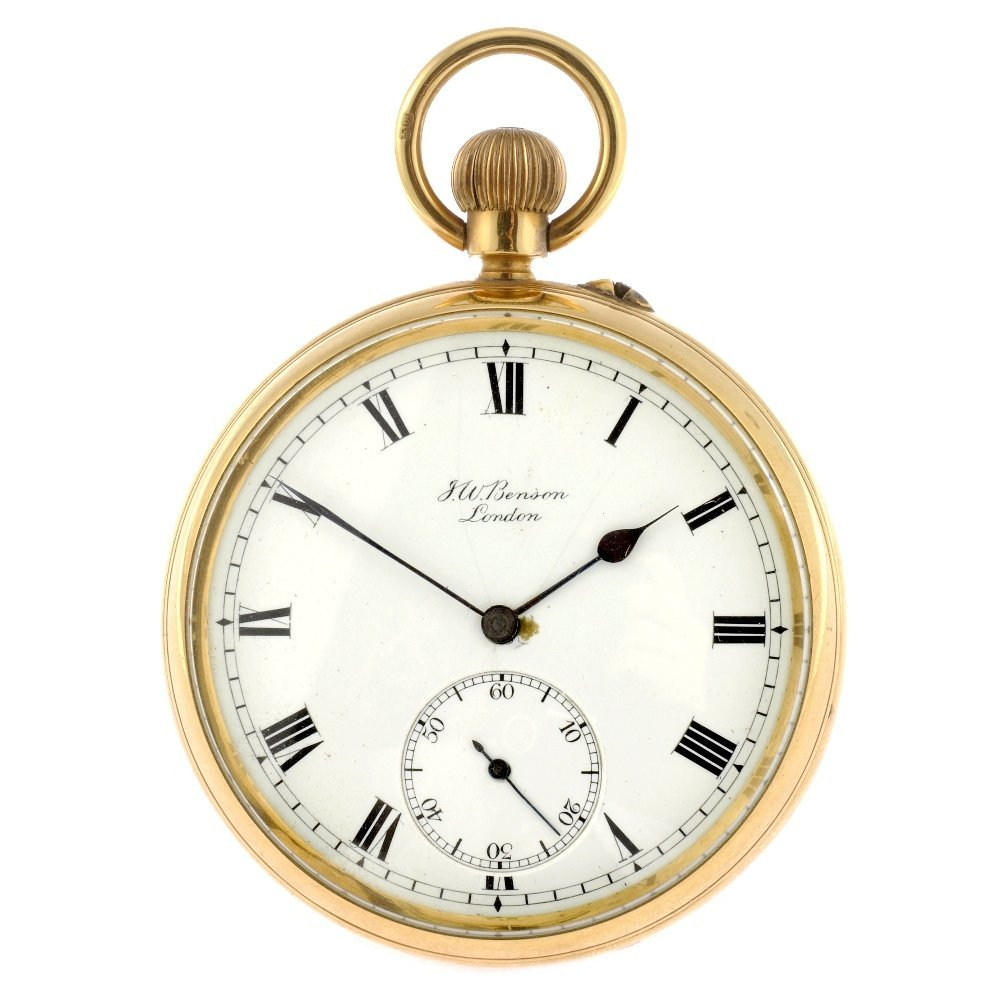 12: (118300-1-A) An 18ct gold keyless wind open face po