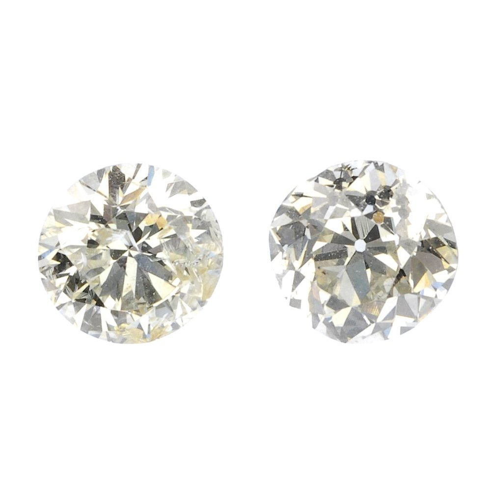 15: (118518-1-2-A) Two loose old cut diamonds.