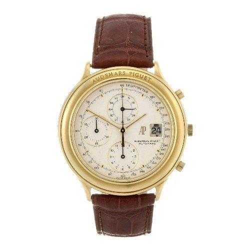 1: An 18k gold automatic gentleman's chronograph Audema