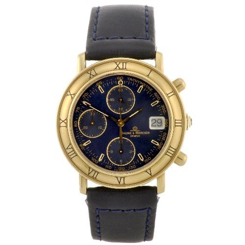 5: An 18k gold automatic chronograph gentleman's Baume
