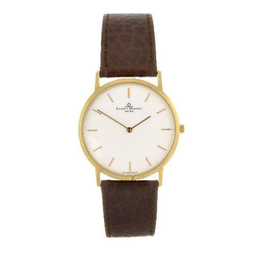 6: An 18k gold quartz gentleman's Baume & Mercier wrist