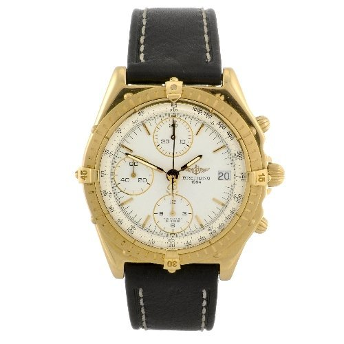14: An 18k gold automatic gentleman's Breitling Windrid