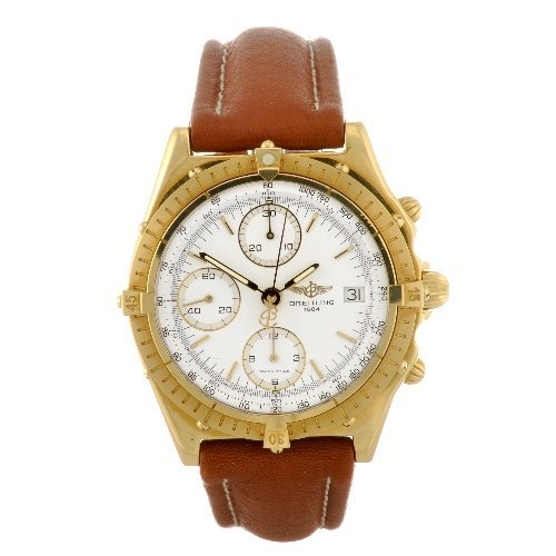 15: An 18k gold automatic gentleman's Breitling Windrid