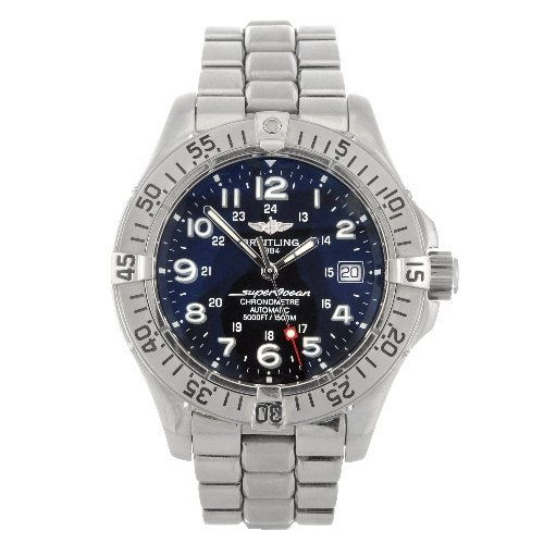 18: A stainless steel automatic gentleman's Breitling A