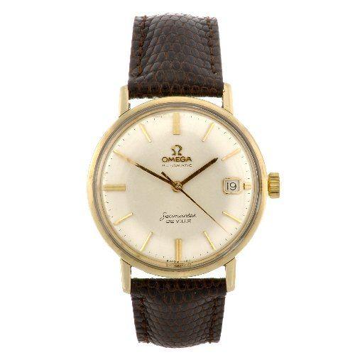 A 14k gold automatic gentleman's Omega Seamaster De