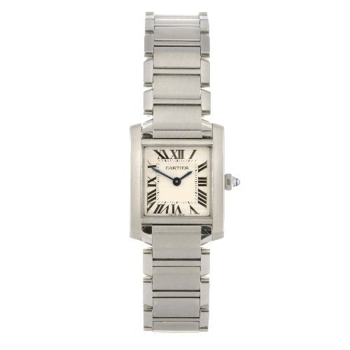 19: (122082406) A stainless steel quartz lady's Cartier