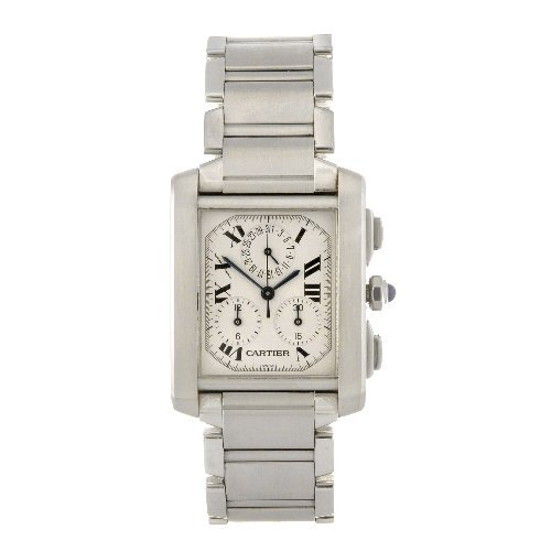 21: (605010304) A stainless steel quartz chronograph Ca