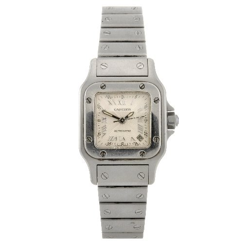 23: (91101) A stainless steel automatic lady's Cartier