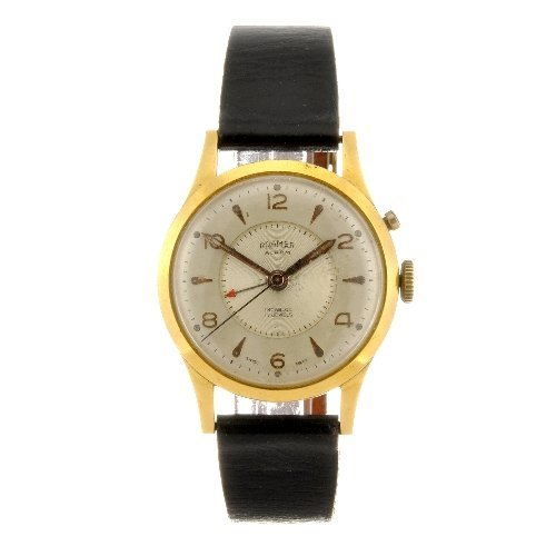 153: A gold plated manual wind gentleman's Roamer Alarm