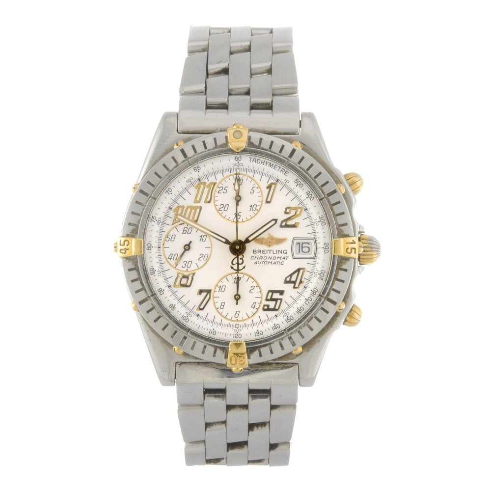 8: (304287906) A stainless steel automatic chronograph