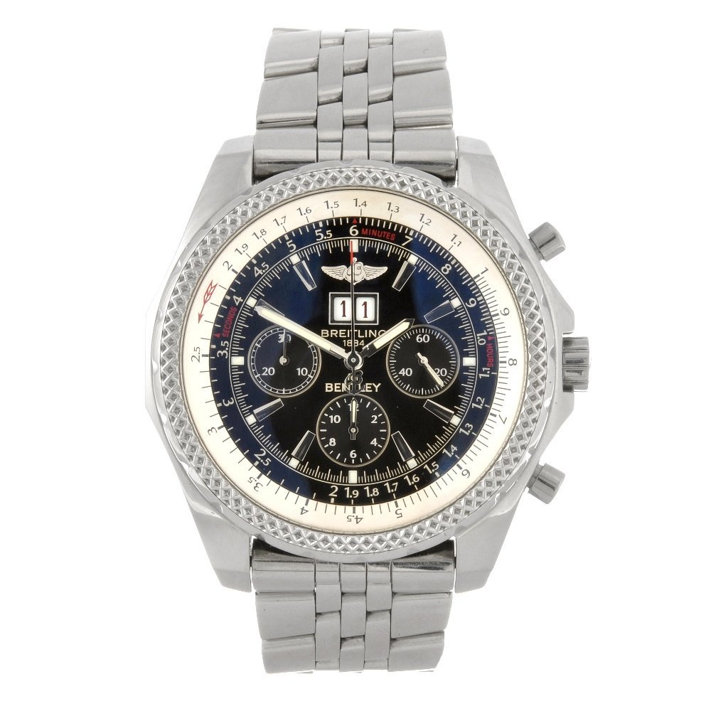 9: (58080) A stainless steel automatic gentleman's Brei