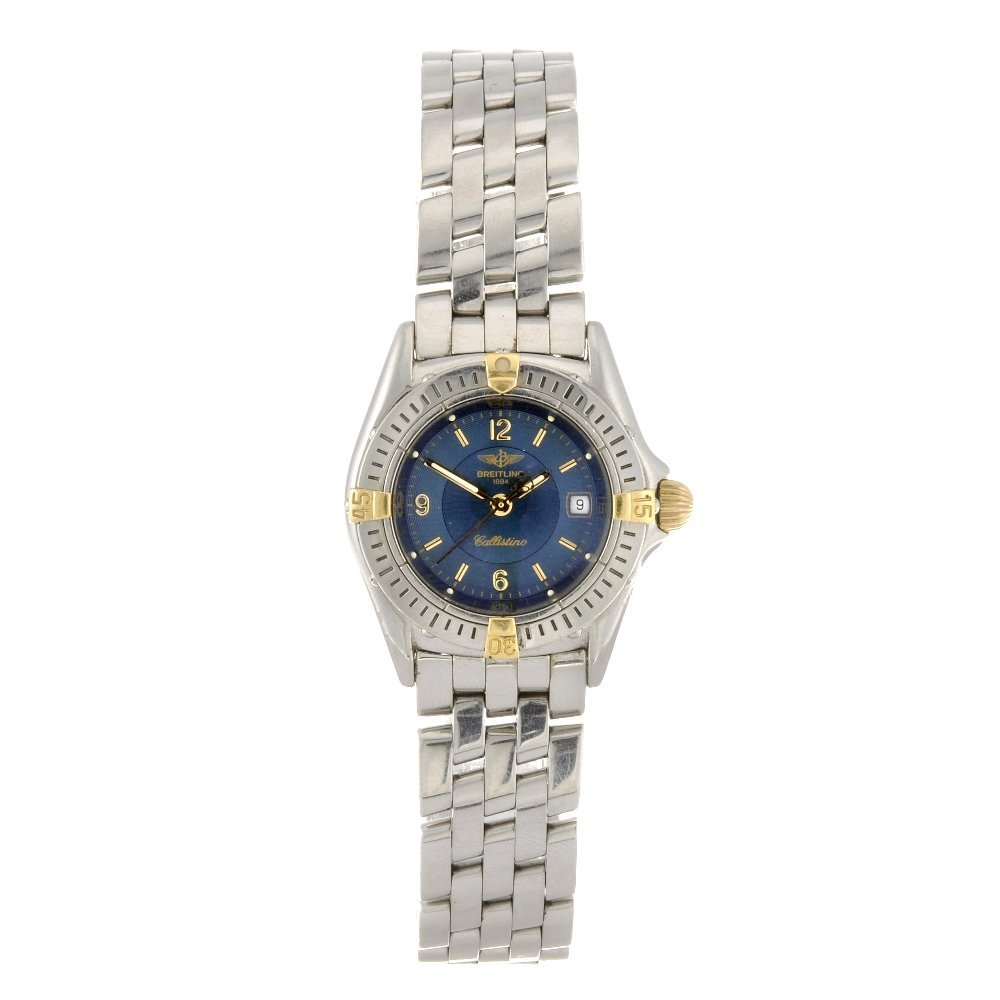 10: (94007) A stainless steel quartz lady's Breitling b