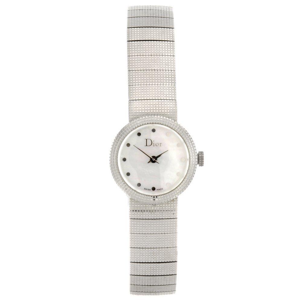 24: A stainless steel quartz lady's Dior Baby D bracele