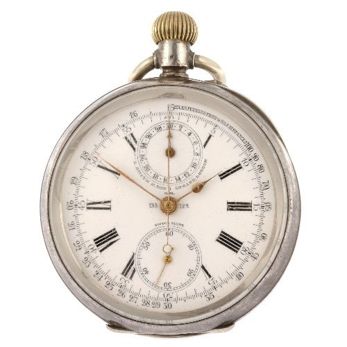 2: A continental white metal keyless wind chronograph o