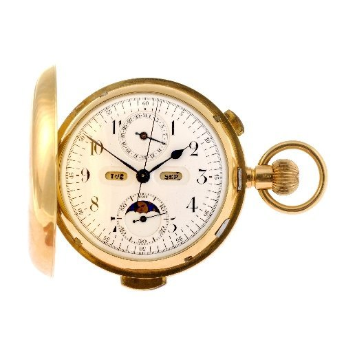 10: An early 20th century 18ct gold keyless wind full h