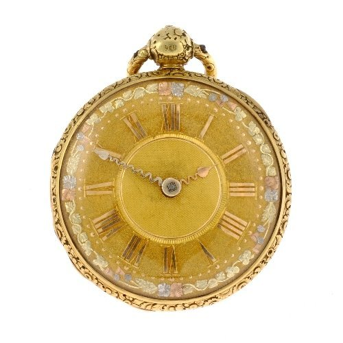 11: A George IV 18ct gold key wind open face pocket wat