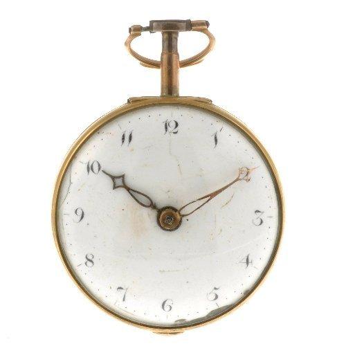 24: A George III 18ct gold key wind pair case pocket wa
