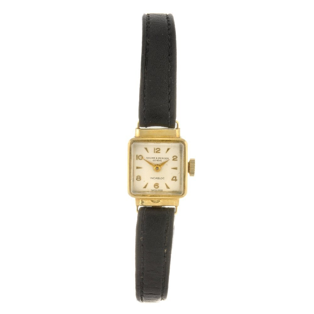 3: (307089945) An 18k gold manual wind lady's Baume & M