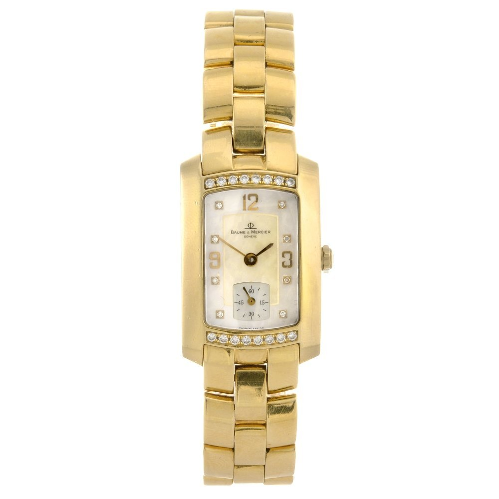 7: An 18k gold quartz gentleman's Baume & Mercier Hampt