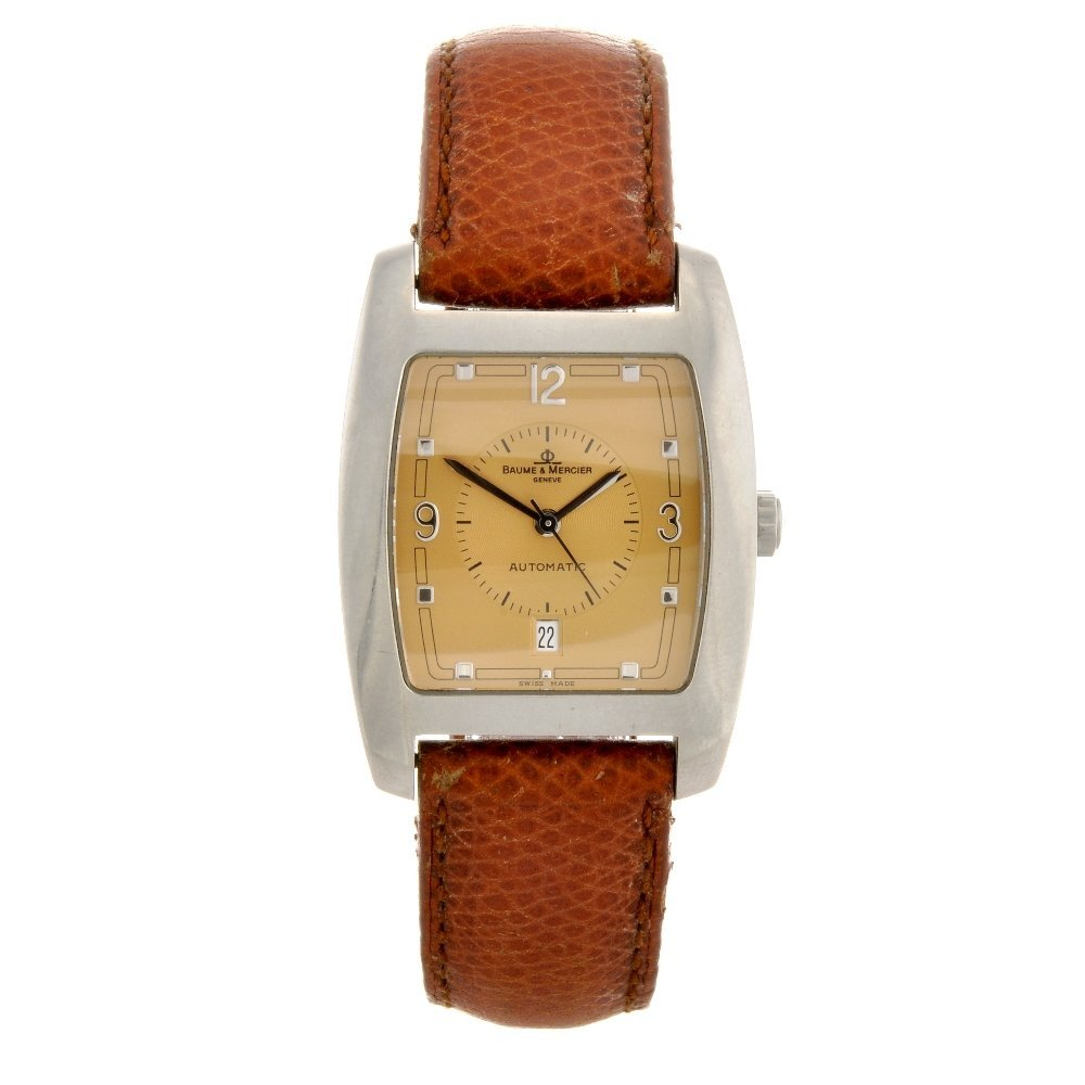 1: A stainless steel automatic gentleman's Baume & Merc