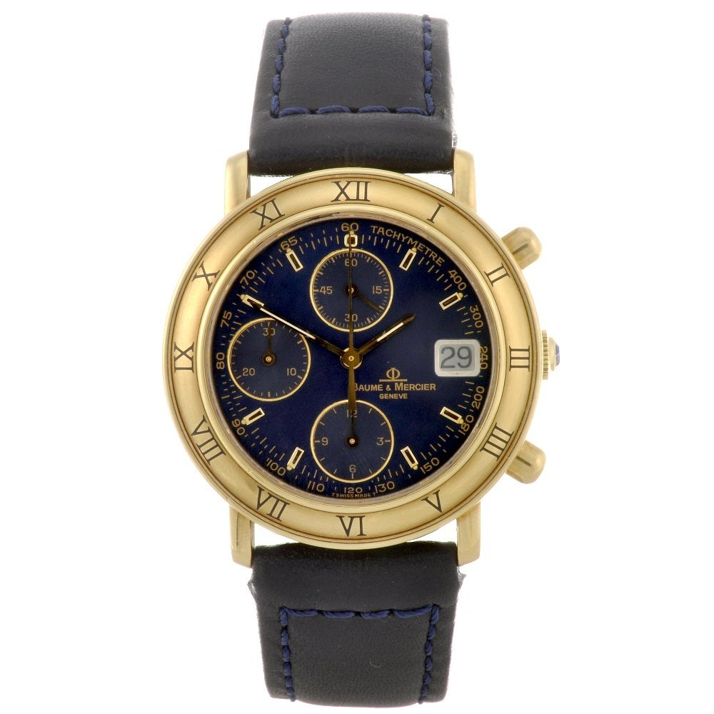 2: An 18k gold automatic chronograph gentleman's Baume