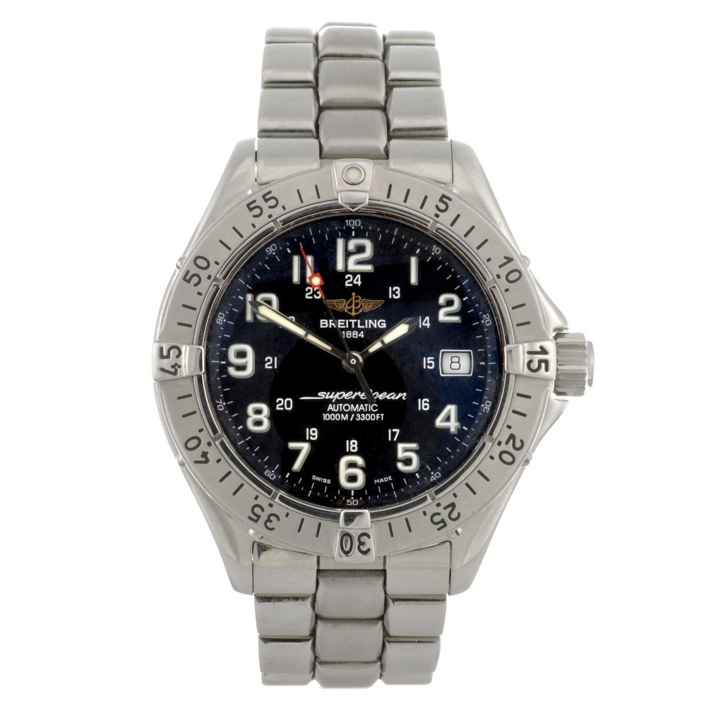 6: (104993673) A stainless steel automatic gentleman's
