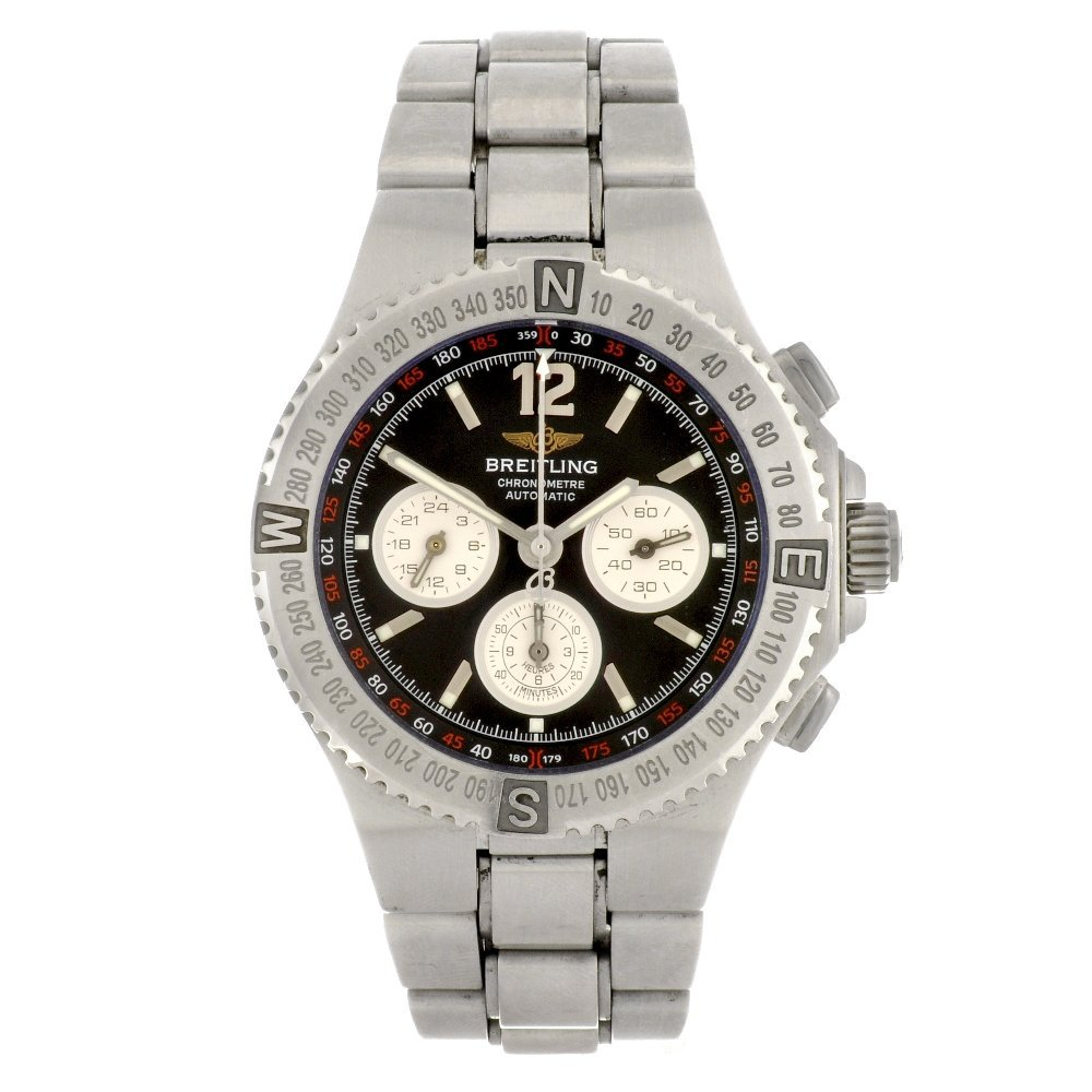 10: (95241) A stainless steel automatic gentleman's Bre