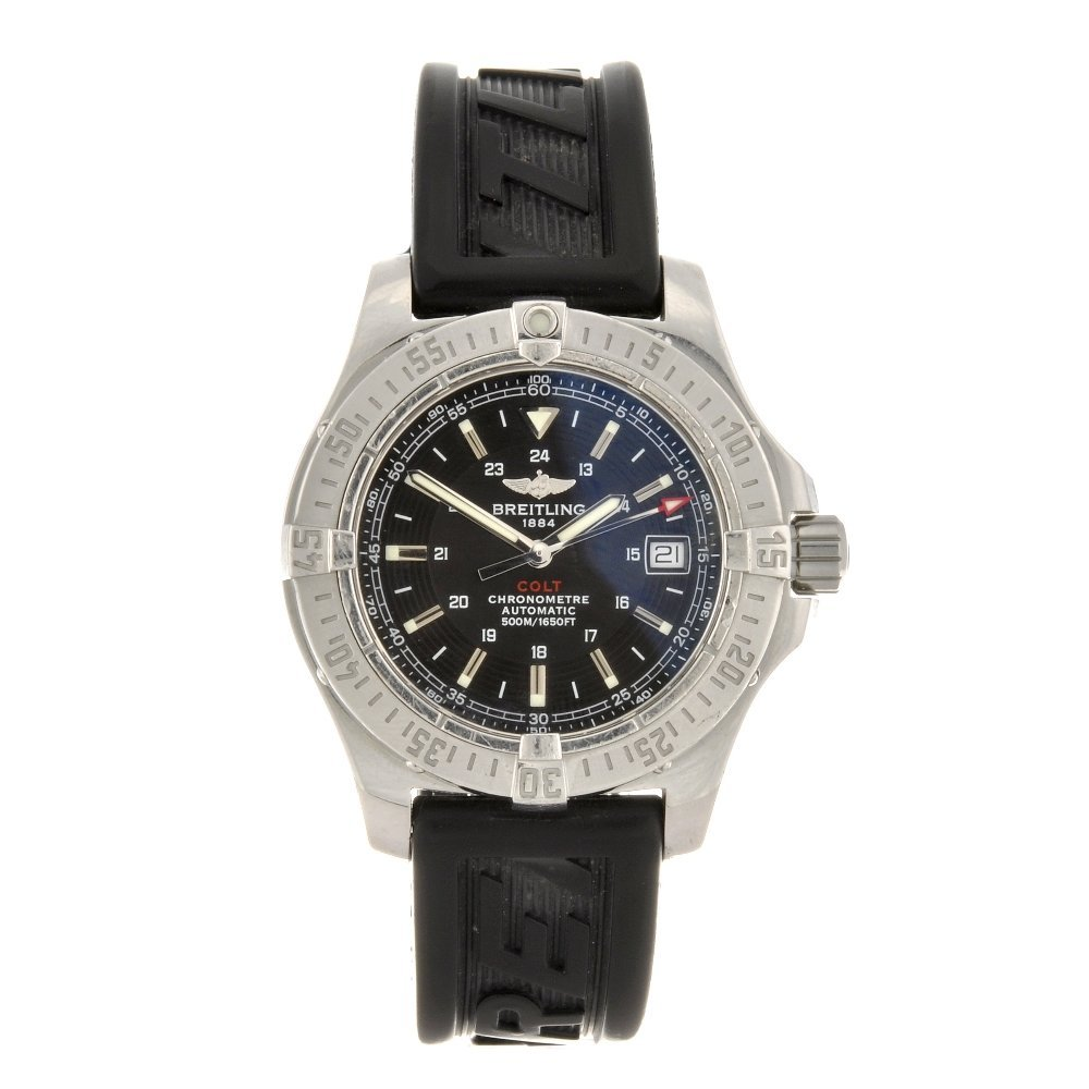 15: A stainless steel automatic gentleman's Breitling A