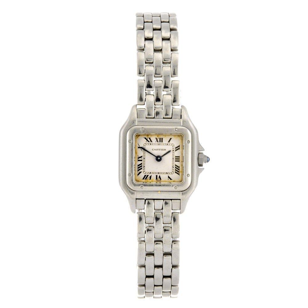 19: (809030863) A stainless steel quartz Cartier Panthe