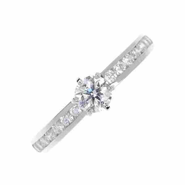 248: TIFFANY & CO. - a platinum diamond single-stone ri