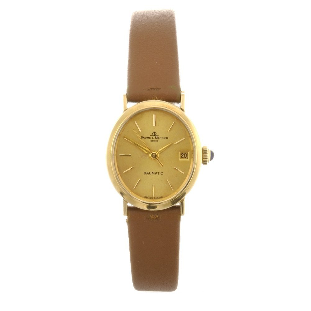 3: (948000244) An 18k gold automatic lady's Baume & Mer