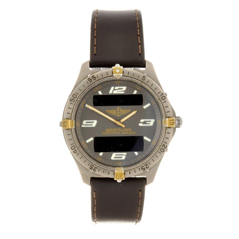 6: (304289877) A titanium quartz gentleman's Breitling