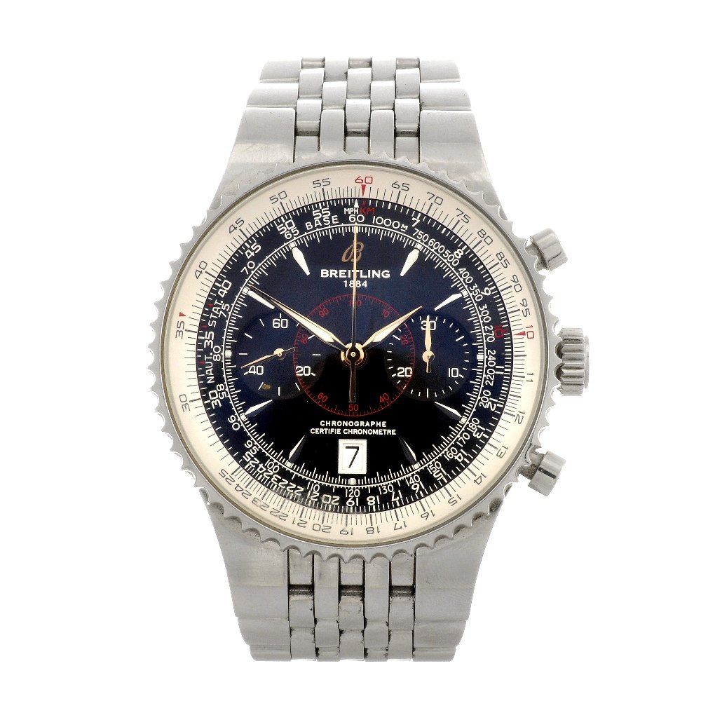 7: (90163) A stainless steel automatic gentleman's Brei