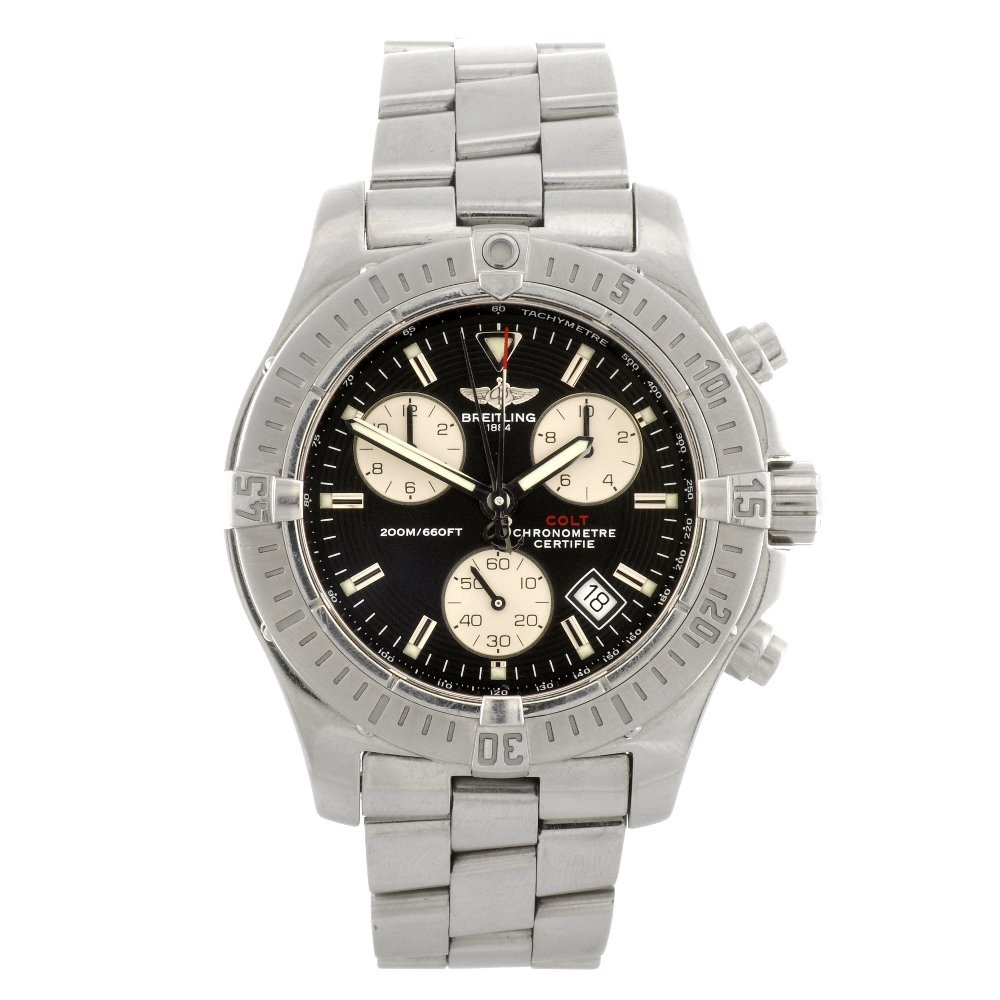 8: (918002435) A stainless steel quartz chronograph Bre