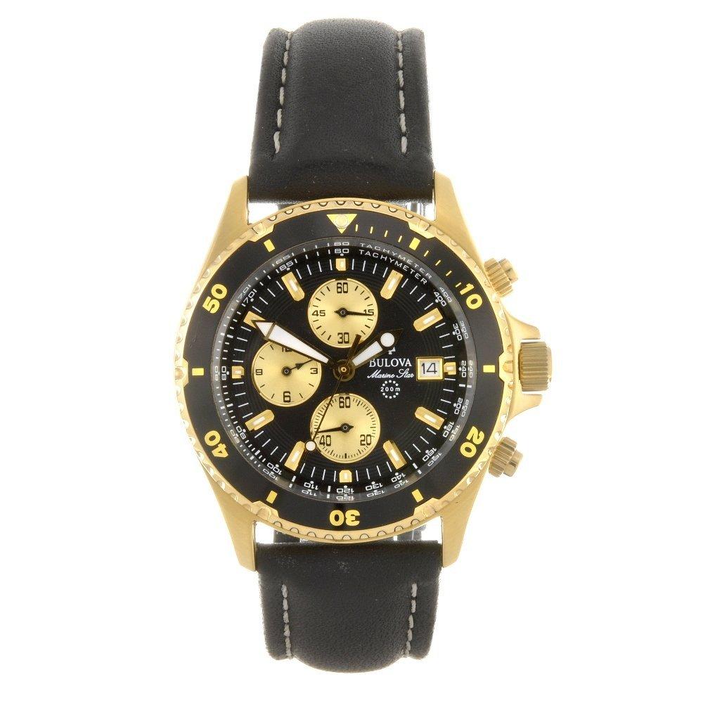 10: (301152131) A gold plated quartz chronograph gentle