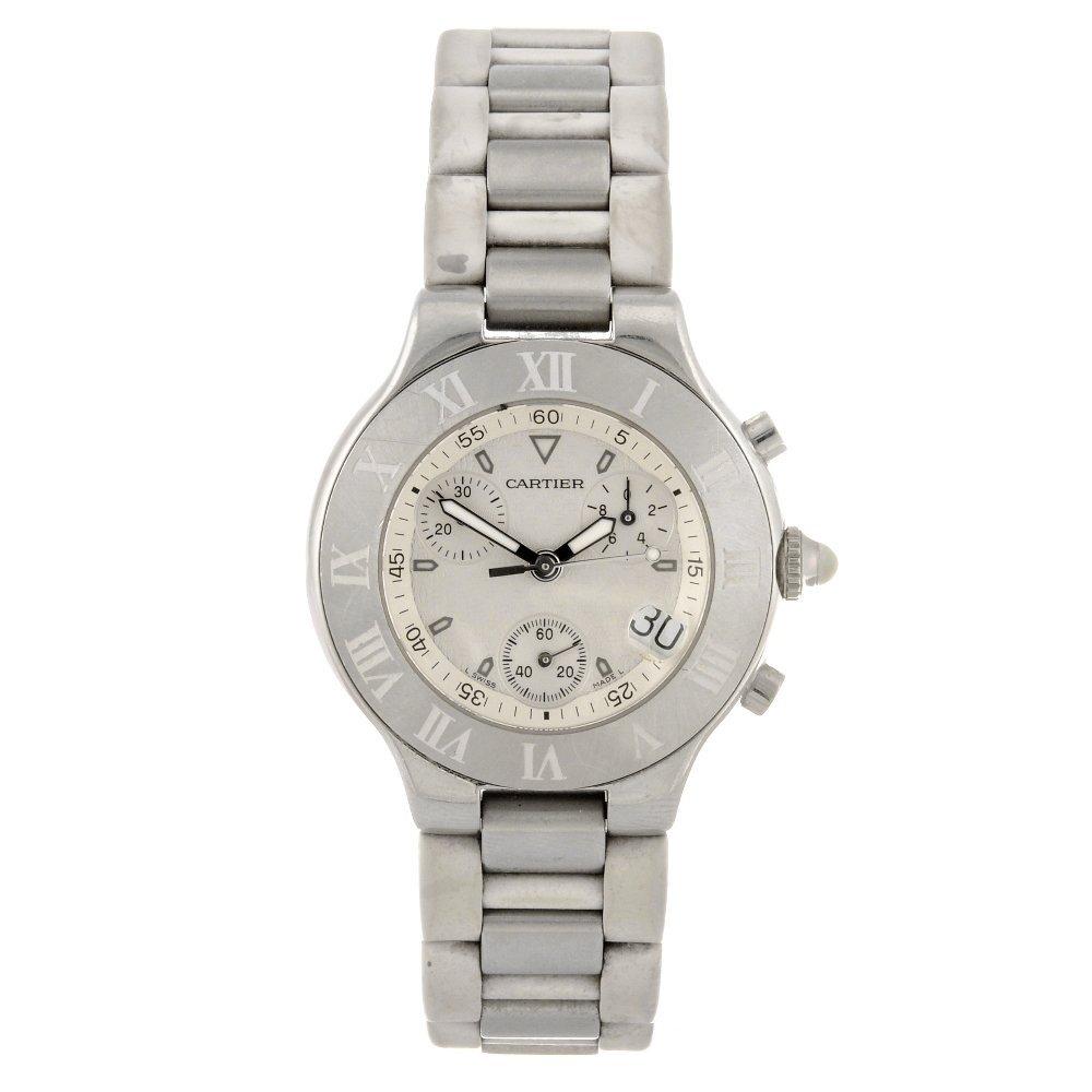 21: (811005877) A stainless steel quartz chronograph Ca