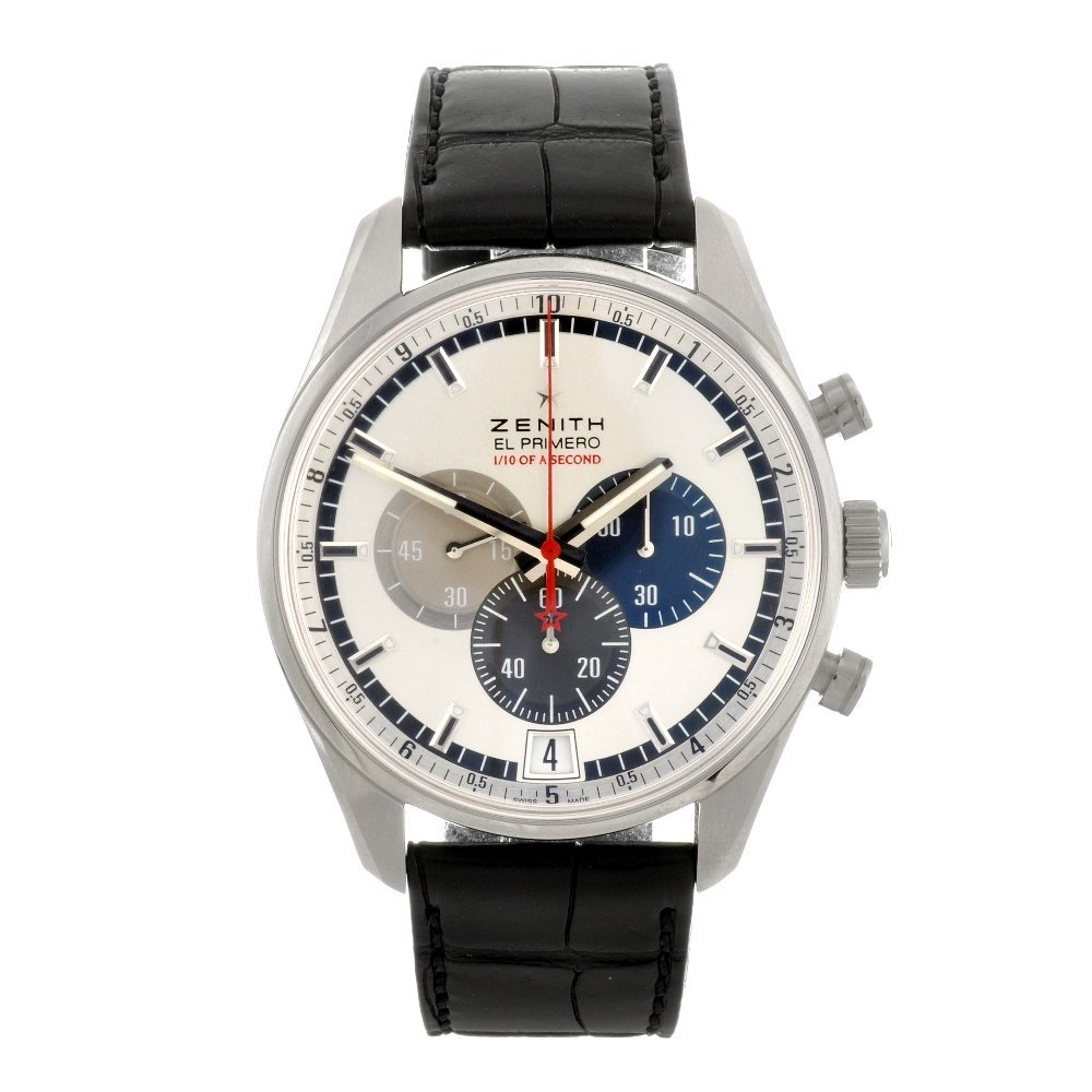 143: (82072) A stainless steel automatic gentleman's Ze