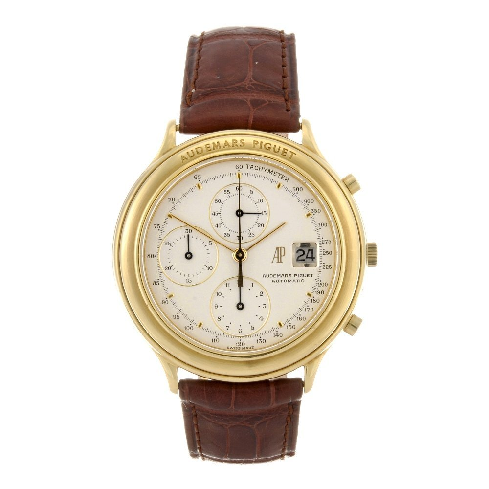 1: An 18k gold automatic gentleman's chronograph Audema