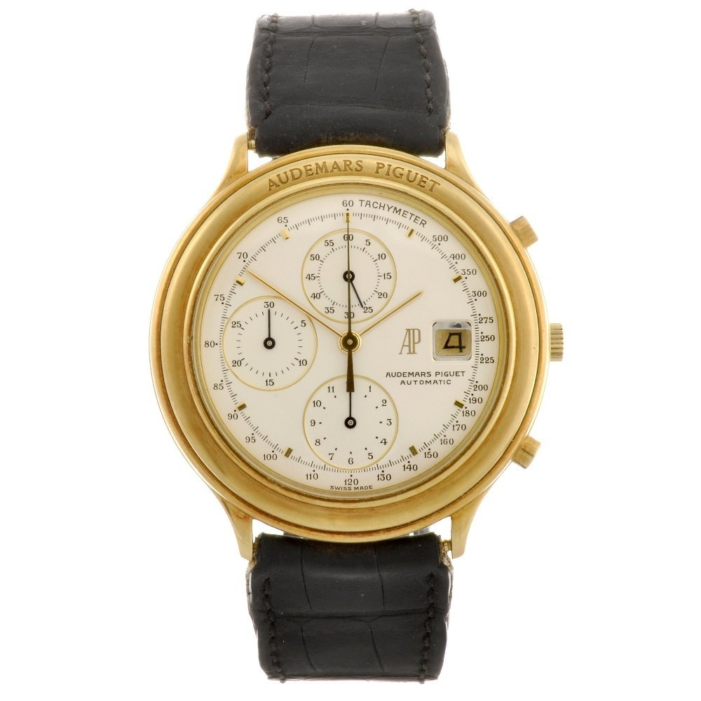 3: An 18k gold automatic gentleman's Audemars Piguet Le