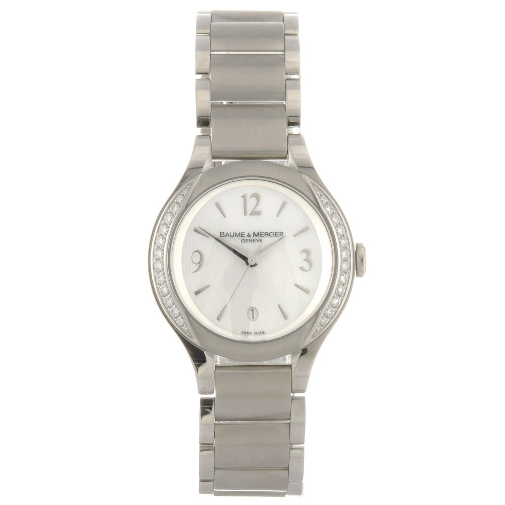 5: A stainless steel quartz lady's Baume & Mercier Ilea