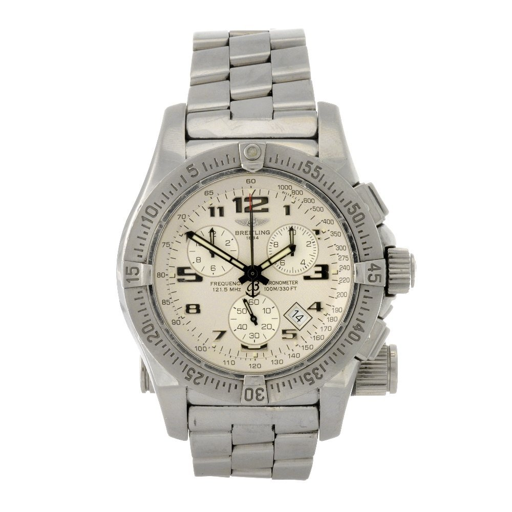 7: A stainless steel quartz gentleman's Breitling Emerg