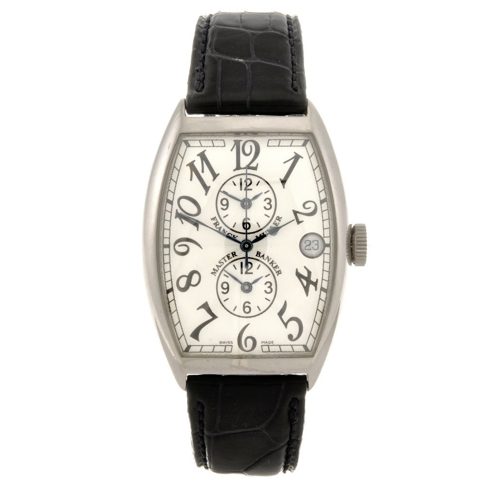 46: An 18k white gold automatic gentleman's Franck Mull