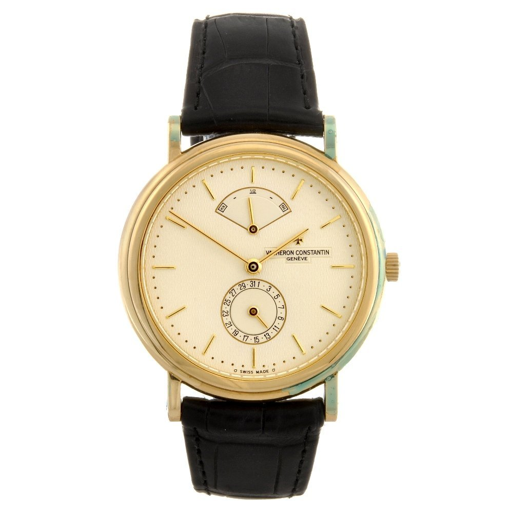 229: An 18k gold automatic gentleman's Vacheron Constan